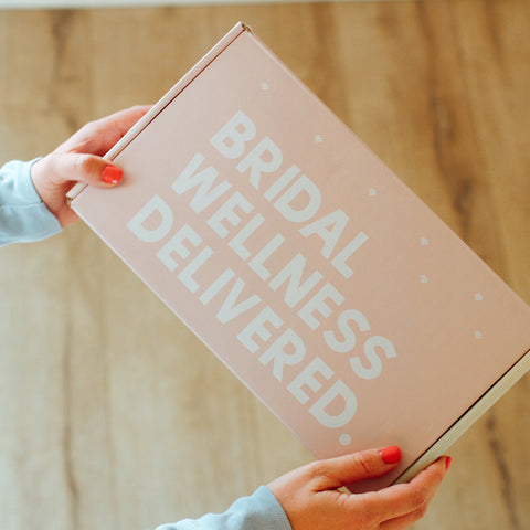 The Mine Company - Bridal Self-Care Box - Bridal Wellness Delivered - Pink gift box for brides - gifts for covid brides - brides that need self-care - wellness for her
