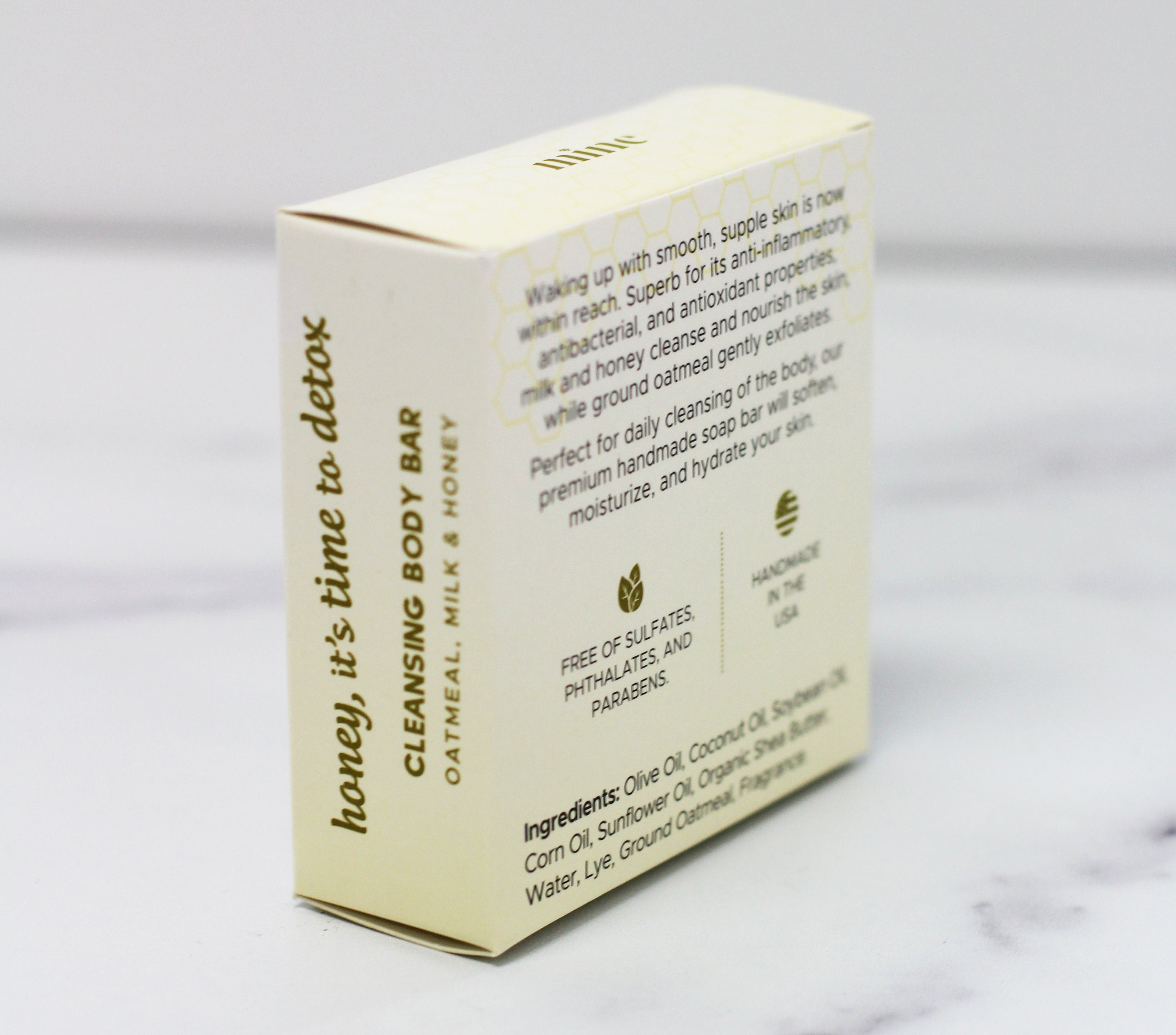 The Mine Co - Honey, it's time to detox - cleansing body bar - oatmeal milk and honey soap