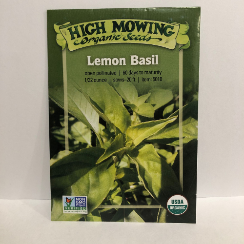Organic Lemon Basil, Heirloom
