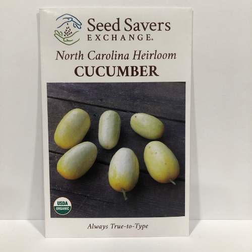 Organic North Carolina Heirloom Cucumber Late 1800's Heirloom