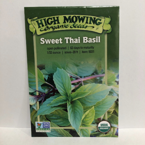 Organic Sweet Thai Basil, Heirloom