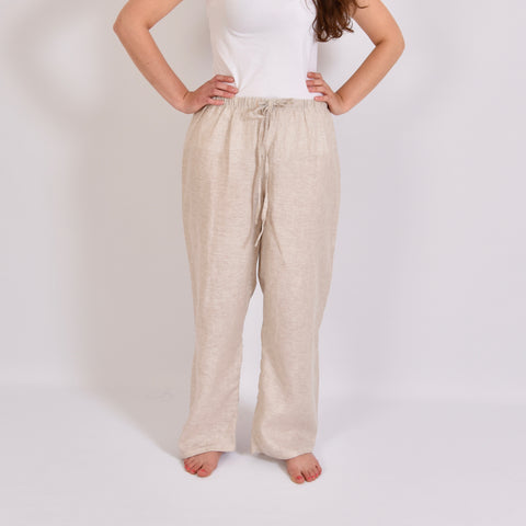 Cream Isles Linen Trousers