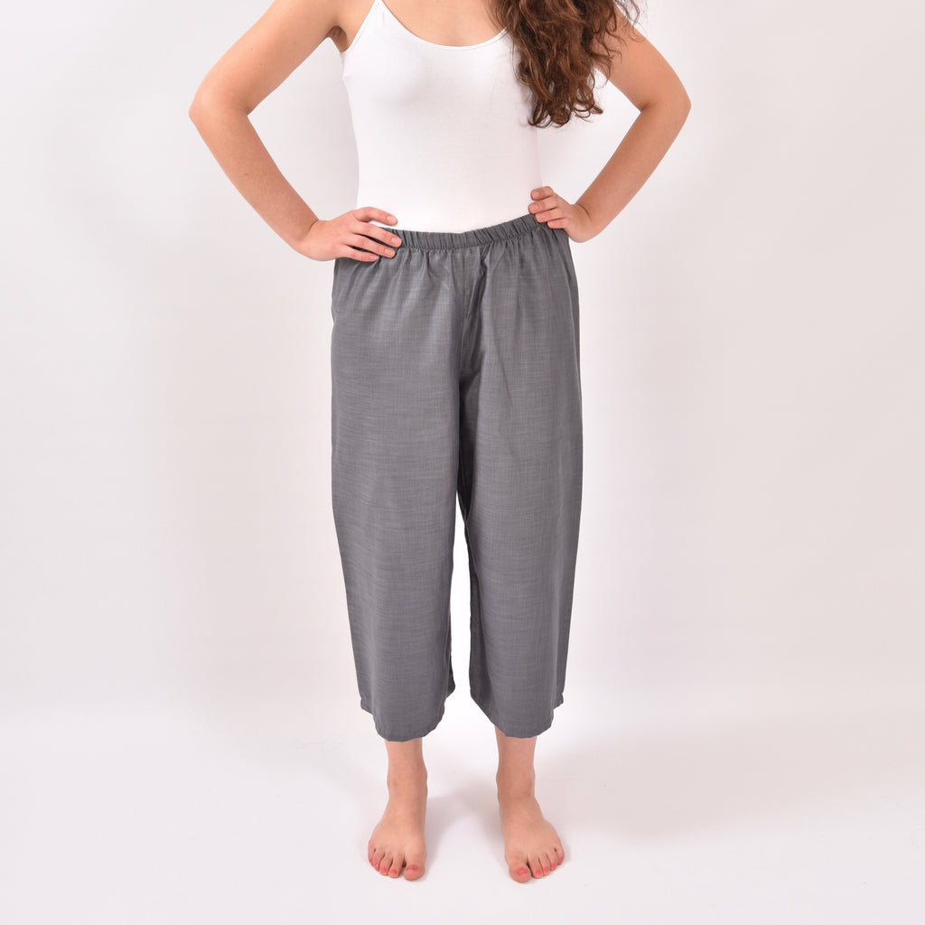 Maritimo Cropped Grey Trousers
