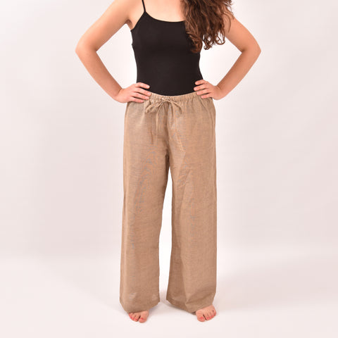 Shoreside Beige Linen Trousers