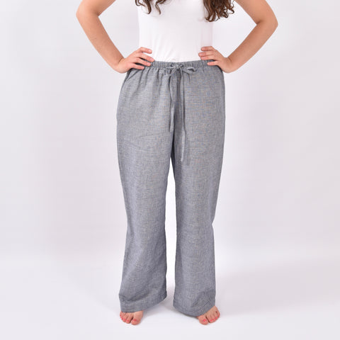 Shoreside Grey Fleck Linen Trousers