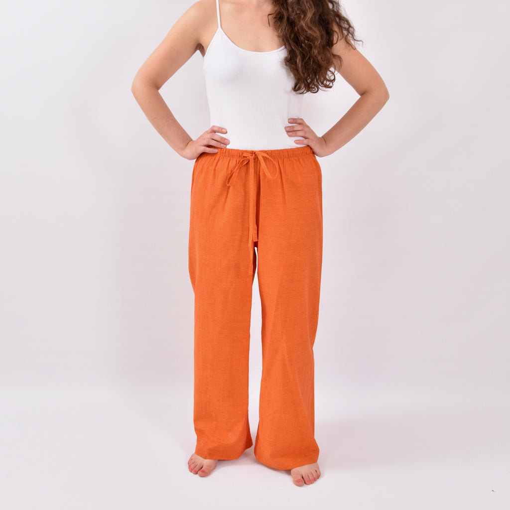 Shoreside Orange Linen Trousers