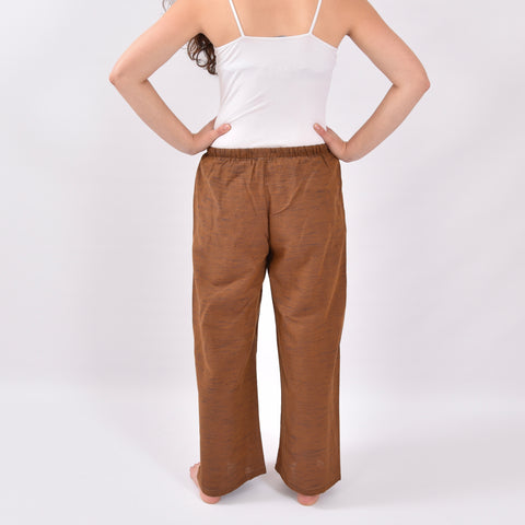 Shoreside Chocolate Brown Linen Trousers