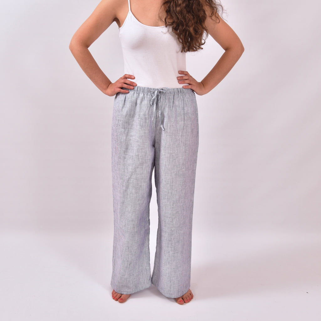 Summer Fair White Stripy Linen Trousers