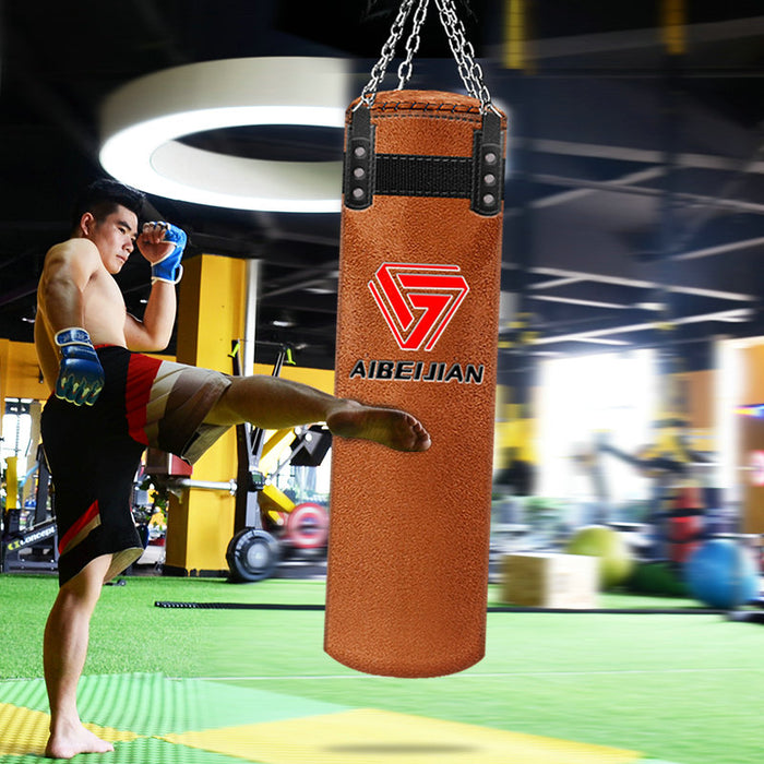 120cm Cowhide Kick Boxing Punching Bag