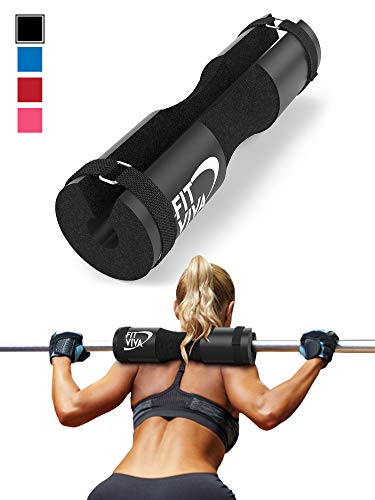 Fit Viva Black Barbell Pad for Standard and Olympic Barbells