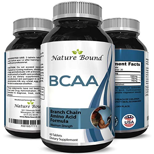 BCAA Pills-Pure Concentrated Essential Amino Acids-Muscle Recovery + Repair-Build Muscle-Best Lean Gains Supplements