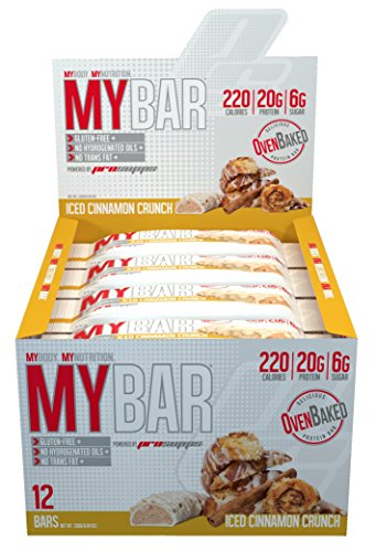 Pro Supps Mybar Oven Baked Only 6G Sugar Healthy On-The-Go Snack Protein Bar