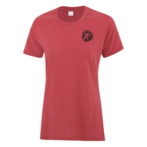 Women's Heather Red Pictogram Tee