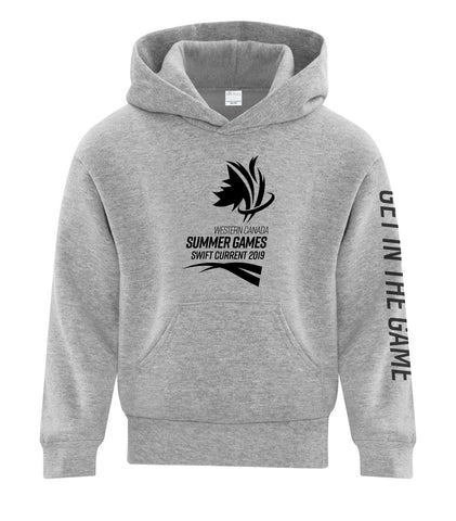 Athletic Grey Youth Logo Hoodie