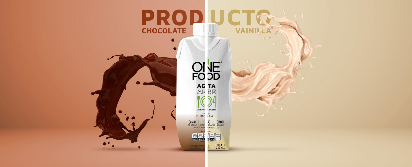 Sabor vainilla y chocolate One Food