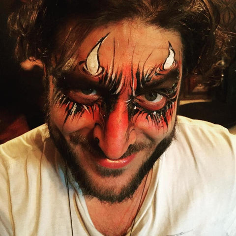 Devil Halloween Face Paint Idea