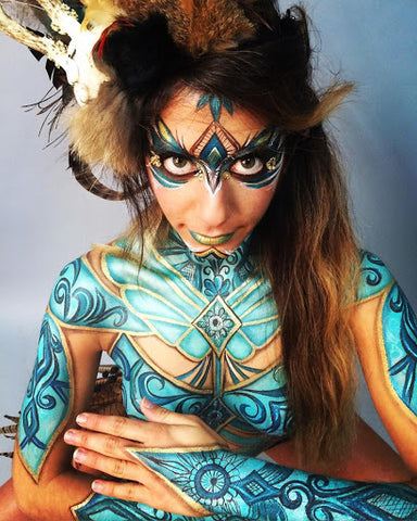 Tribal Ice Queen Halloween makeup Inspiration