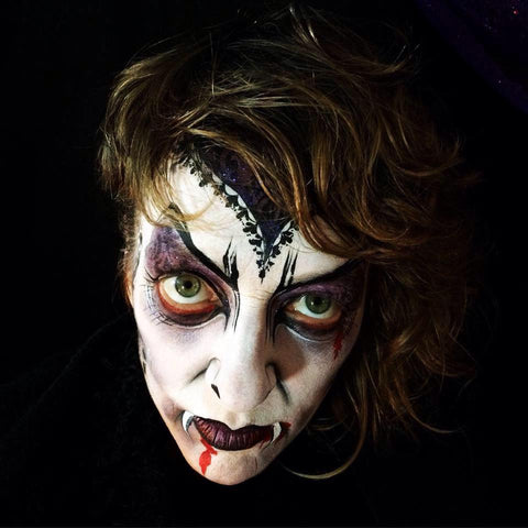 Vampire halloween makeup and face paint