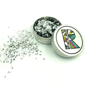 Silver EcoGlitter - Biodegradable Cosmetic Glitter