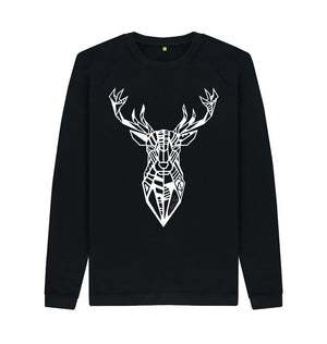 Black The Stag - Crew Neck