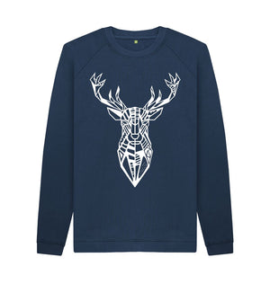 Navy Blue The Stag - Crew Neck