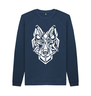 Navy Blue The Wolf - Crew Neck