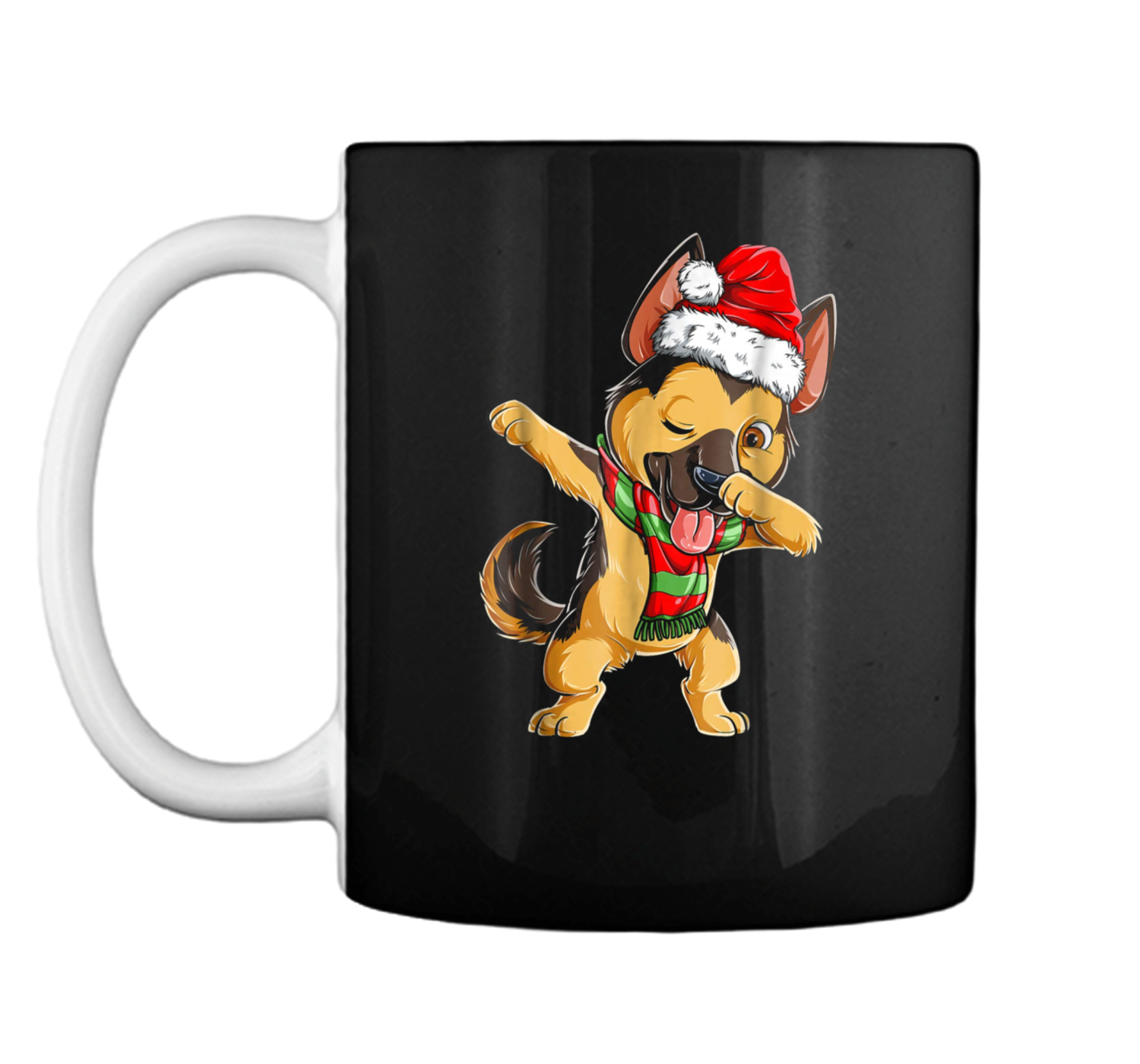 Dabbing German Shepherd Santa Christmas Kids Gifts Mug - Jimax