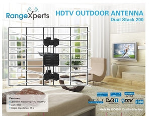 150 Mile Indoor & Outdoor HDTV Antenna