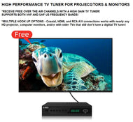 High Gain TV Tuner for HD Projectors and Monitors to full fledge TVs