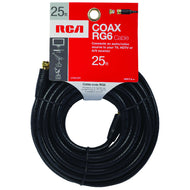 RCA 25ft of RG6 TV Coax Cable with Installed Connectors