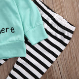 Newborn Baby Boy Girl Clothes Set It's 5 am somewhere Closeup pants