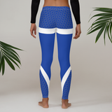 Blue Women's/Girls Leggings with mesh accents - Bentley York