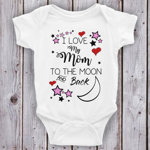 Love Mom Pink and Hearts Onesie - Bentley York