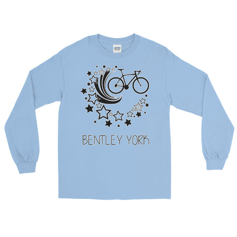 Bentley York Bike Stars Long Sleeve Blue T-Shirt - Bentley York