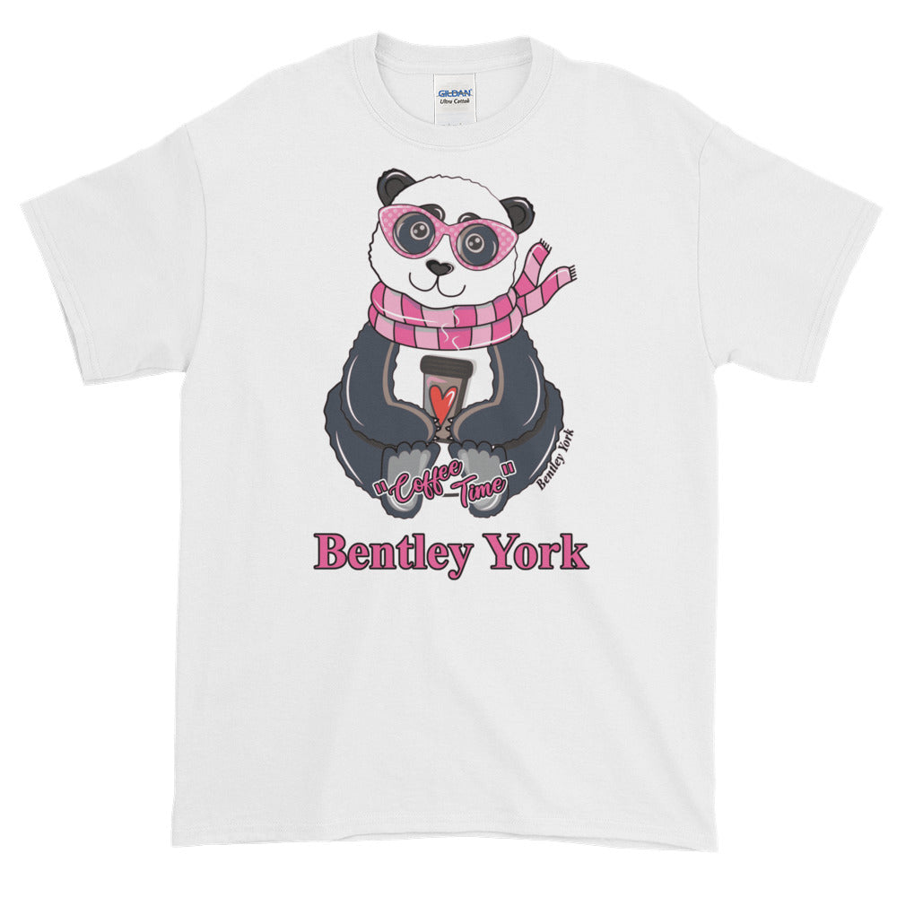 Panda-coffee-time-womens-short-sleeve-t-shirt - Bentley York