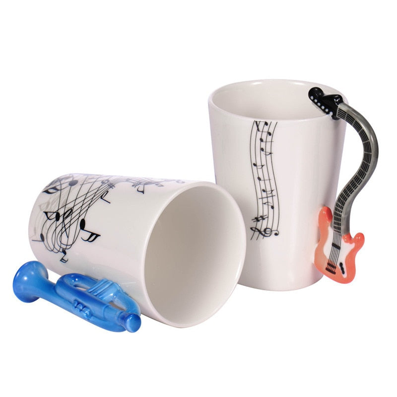 Guitar Ceramic Coffee Cup Music Note 2