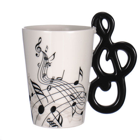 Guitar Ceramic Coffee Cup Music Note