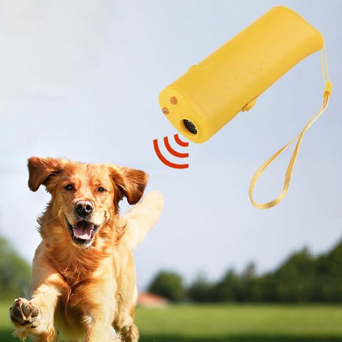 Dog Training Device 3 in 1 Stop Bark Ultrasonic with LED