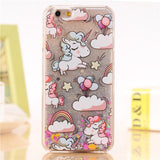 Cell Phone Case iPhone Cartoon Unicorn Glitter