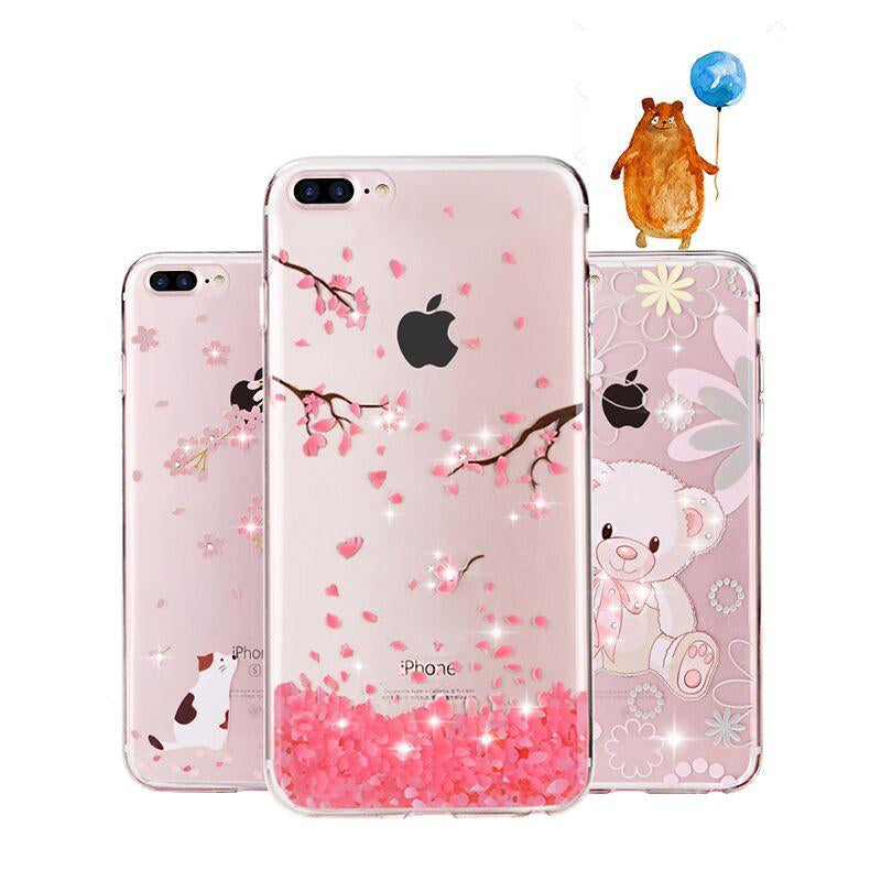 Glitter iPhone 8 7 6 6S Plus Case Silicone protection