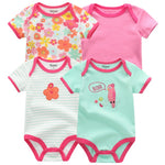4 PCS/lot Baby Romper pink red Short Sleeve cute suit Clothes sets 2019 Summer Jumpsuit Baby Boy Girl Clothing baby costume - Bentley York