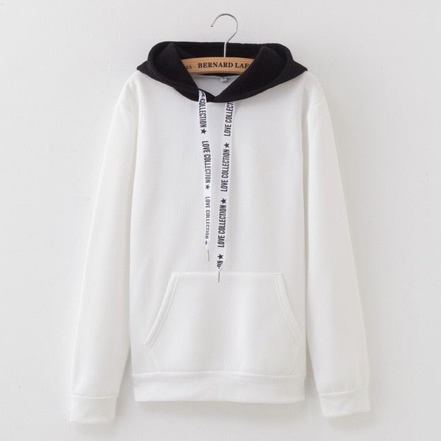 2019 Women's  Casual Top New Solid Color Hoodies