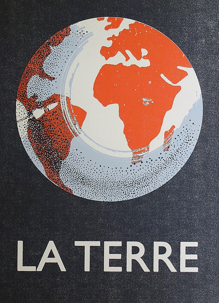 La Terre 'Bleu' Screenprint