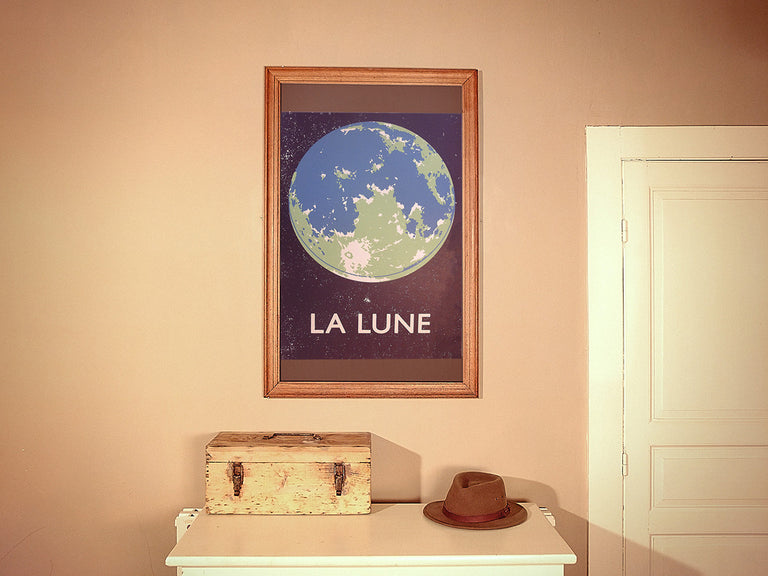 La Lune 'Bleu' Screenprint