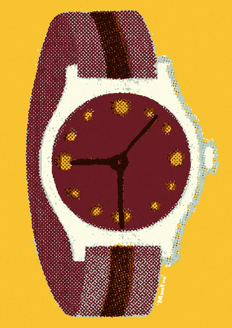 'Montre' Watch print