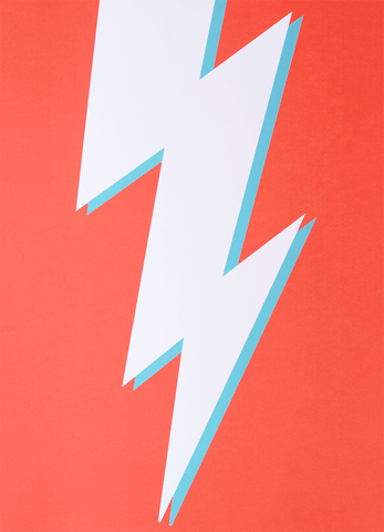 Lightning Bolt Screenprint