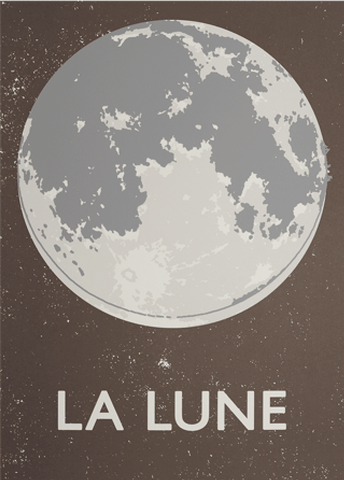 La Lune Screenprint