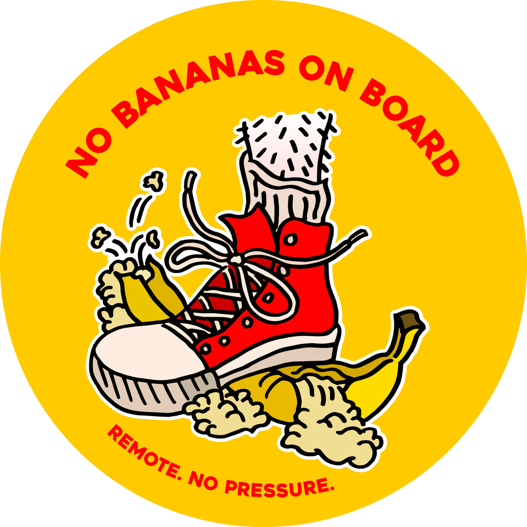 No Bananas Decal
