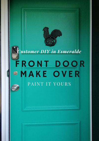 Front Door Makeover in Esmeralde