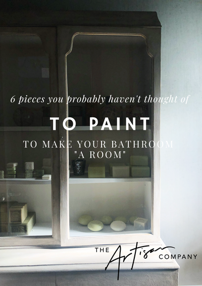 "6  simple things you probably haven't thought of that you can paint to make your bathroom ""a room"" -"